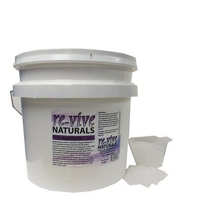 Re-vive Naturals Magnesium Chloride Flakes 12 Lbs FOOD Grade, Edible