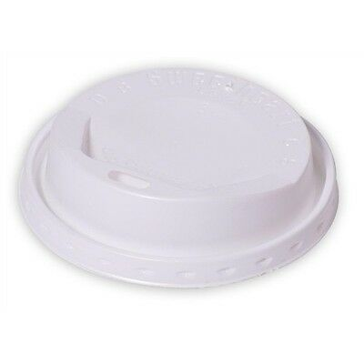 100 x 12oz White Sip Lids for Red Bean Ripple Cups TEA COFFEE SOUP  (0721/10)