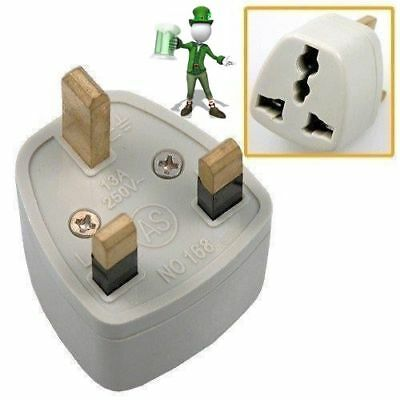 Universal AU EU US to UK AC Plug Adapter Travel Converter