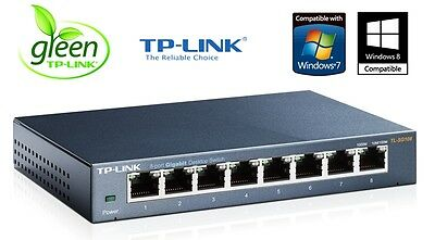 Netzwerk Switch EASY SMART 8 Port TP-Link 10/100/1000 Mbit LAN TL-SG108E Gigabit