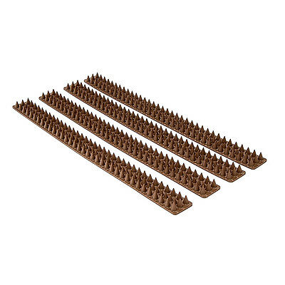 Fence and Wall Spikes Anti Bird 115 Spikes 4 Panels Bird/Animal Control Outdoor