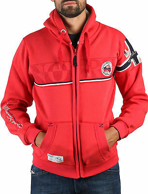 Felpa GEOGRAPHICAL NORWAY Uomo Men Sweat Hooded Fleece 100% Originale Anapurna