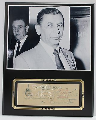 Meyer Lansky Mafia Boss  Reproduction Signed Limited Edition Check  Display