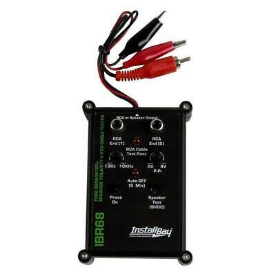The Install Bay by Metra IBR68 9 Volt All in One RCA Cable Wire & Speaker Tester