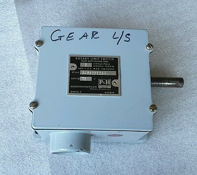 P & H  Rotary Limit Switch, Style  54Bb23Ecnk  Ratio 72