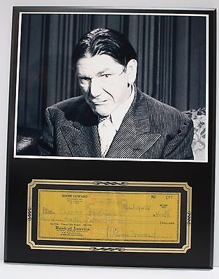 Shemp Howard The 3 Stooges Reproduction Signed Limited Edition Check  Display