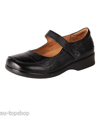 New Pure Comfort Women Orthotic-Friendly Leather Wide D Work Shoes Katie Cheap