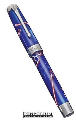 Rikwill By Conway Stewart Duro Red, White, Blue Limited Edition Fountain Pen