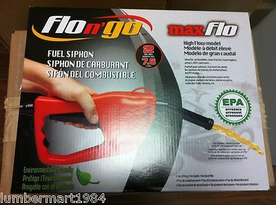 Scepter 08338 FLO N' GO FUEL TANK SYPHON MAXFLO EPA APPROVED HIGH FLOW MODEL GAS