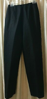 Pair of Fabulous Vintage Bill Blass Black Linen Pants, Fully Lined. Size 10.