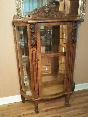 Antique Gothic Curio Cabinet~Hand Carved~Stunning and One of a Kind