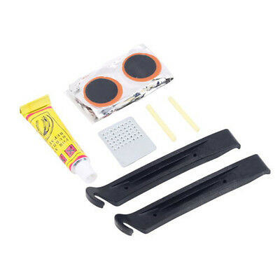 Mini Cycling Bike Bicycle Repair Tire Tyre Levers Tool Set Kit Rubber Patches