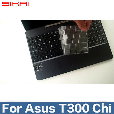 Ultra Silicone TPU Skin keyboard Cover for ASUS Transformer T300 T3 CHI T300CHI
