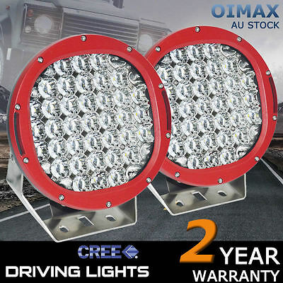2X 9inch 185W Cree Led  Spot Work Driving Light  OFFROAD ATV TRUCK  HID Lights