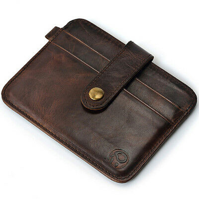 Business Business Key Money Clip ID Case Holder Credit Card Wallet Mens Leather