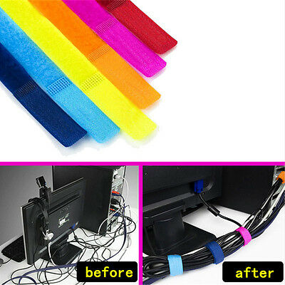 50pcs/lot Strap Wrap Wire Line Organizer Cable Tie Rope Holder for Laptop PC TV