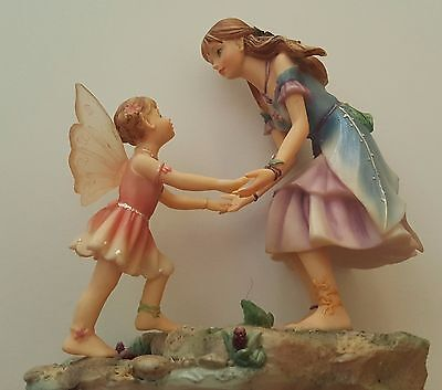 FAERIE GLEN HELPING HANDS Fairy Figurine Sisters and Friends
