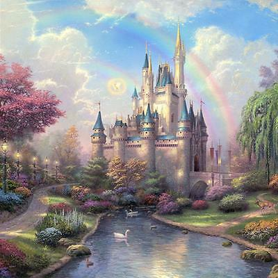 5D DIY Diamond Painting Ancient Castle Embroidery Cross Stitch Home Wall Decor