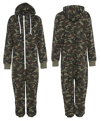 1Onesie Unisex Tracksuit Military Camouflage Army Printed Play Suit All Sizes