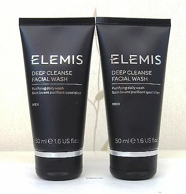 Elemis For Men Deep Cleanse Facial wash - 2 x 50ml New (Not Sealed)