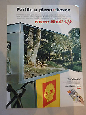 Advertising Pubblicita' Vivere Shell  -- 1968