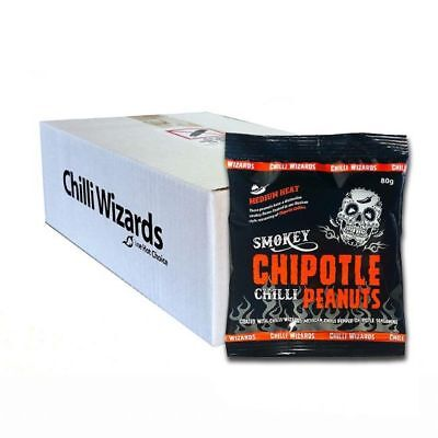 Smoked Chipotle Chilli Peanuts - Wholesale Case 24 x 80g Packs