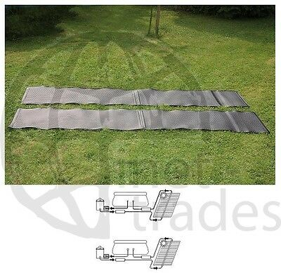 POOLHEIZUNG ECO SUN Solar Solar mat Pool Heater with Solar energy Aufheizen matt