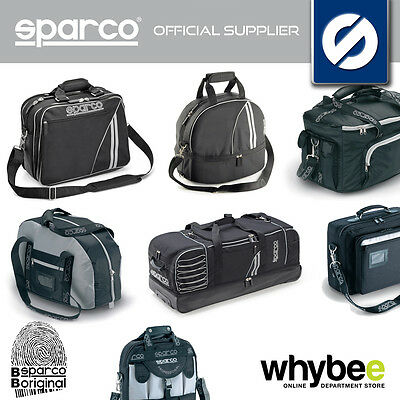 NEW! FULL RANGE OF SPARCO RACING RALLY BAGS - for TRAVEL / LEISURE / PADDOCK