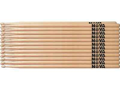 1 Brick of 12 Pairs Vic Firth NOVA 7A Drumsticks - WOOD TIP Choice of 3 Colours