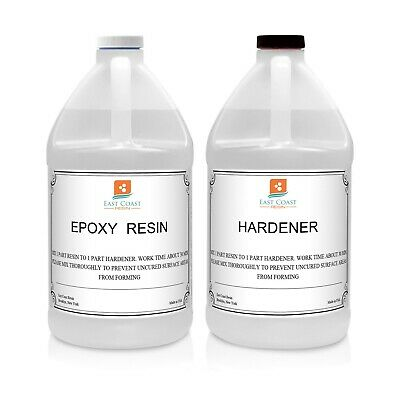 EPOXY RESIN 1 Gal kit CRYSTAL CLEAR for Super Gloss Coating and Table Tops