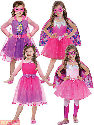 Childrens Barbie Princess Costume Girls Superhero Spy Fancy Dress Kids Book Week