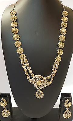 Rani Haar Bollywood  long Indian Bridal Long Necklace Lct Gold D.NO RH-708