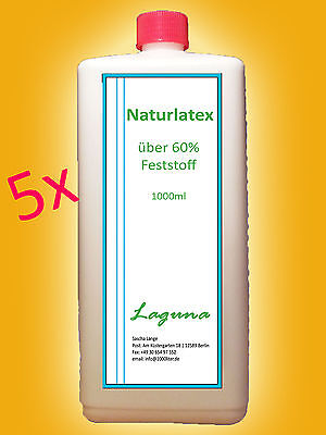 Flüssiglatex 5 L Latexmilch 5000ml 5 x 1L Liquid Rubber Masken Halloween 104