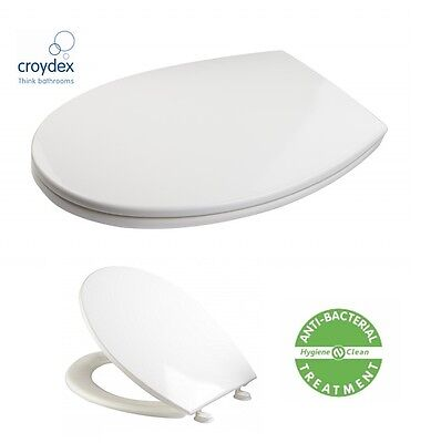 Croydex Toilet Seat Thermoplastic Universal Size With Fittings Adjustable Hinges