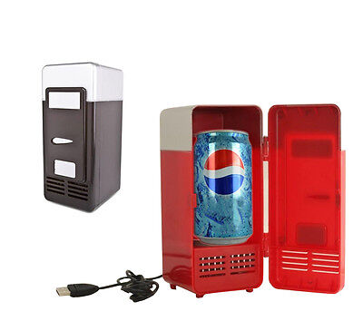 Small USB Fridge Cooler Drink Cans Cooler/Warmer Refrigerator Laptop PC Ourdoor