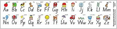 Alphabet Strips Desk Stickers Foundation Font Literacy Teacher Education Kids