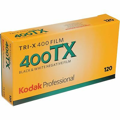 Kodak TX-120 Tri-x 400 ISO Black and White Negative Film, 5 Pack FRESH DATE
