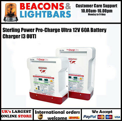 Sterling Power Pro-Charge Ultra 12V 60A Battery Charger PN:PCU1260 [3 OUT]
