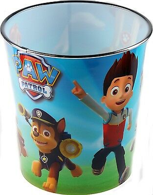 Paw Patrol Children's Bedroom Waste Paper Bin. Delivery is Free
