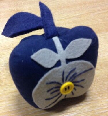 John Lewis Apple Pin Cushion Navy blue RRP 9.00