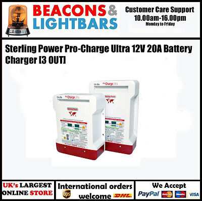 Sterling Power Pro Charge Ultra 12v 20a 3 out Battery Charger