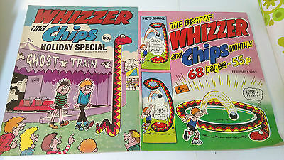 Vintage 1984/1985  Holiday Special & Best of Whizzer and Chips Comics  (b40)