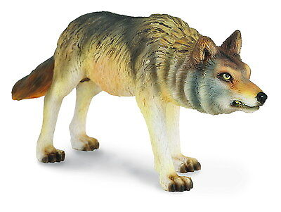 *BRAND NEW* TIMBER WOLF HUNTING MODEL by COLLECTA 88342 *FREE UK POSTAGE*