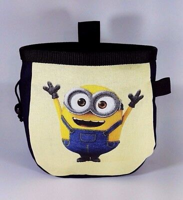 Minions style chalk bag for rock climbing bouldering + free adjustable belt