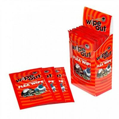 Wipe-Out Flea Wipes, insecticide-free wipes remove fleas and lice - 2 sachets