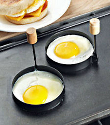 Iron Egg Rings Non Stick Set Of 2 4 6 Folding Handles Fried Poached Egg Fry Pan
