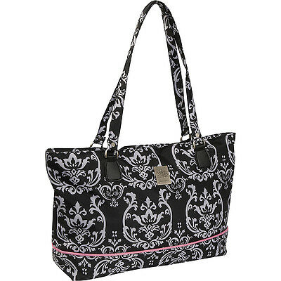 Jenni Chan Damask Laptop Computer Work Tote - Black Ladies' Busines NEW