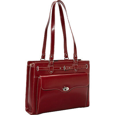 """McKlein USA Joliet 15"""" Leather Laptop Tote EXCLUSIVE - Women's Business Bag NEW"""