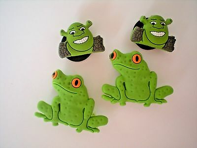 Jibbitz Croc Clog Shoe Plug Kid Charm Accessories 4 Shrek Frog Fit Bracelet Belt