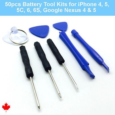 50pcs Battery Replacement Tools iPhone 4 5 5c 6 6s Google Nexus 4 5 Wholesale
